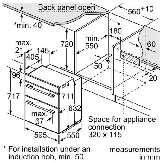 Bosch HBN43B260B Built-Under Double Oven