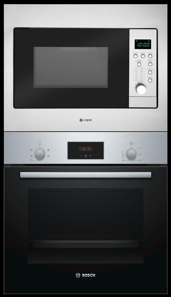 Bosch HHF113BR0B / Caple CM126 - Single Oven / Built-In Combi Microwave Pack