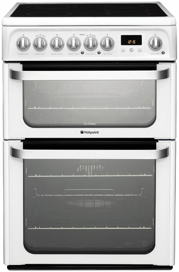 Hotpoint HUE61PS White Electric Cooker