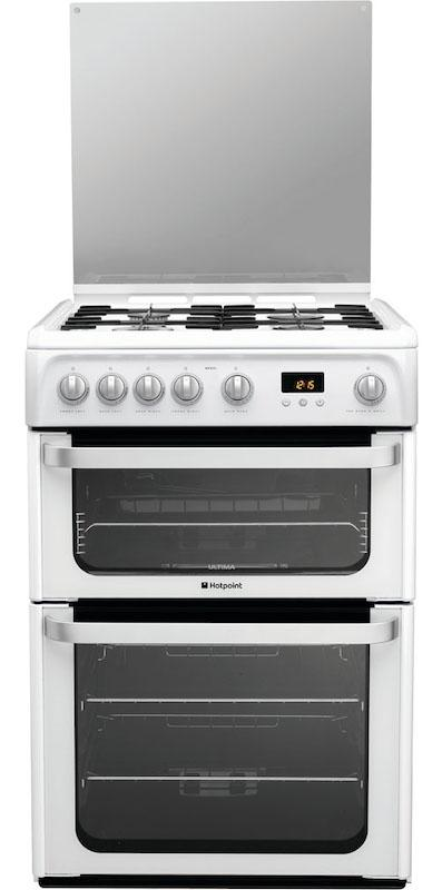 Hotpoint HUG61P 60cm White Gas Cooker