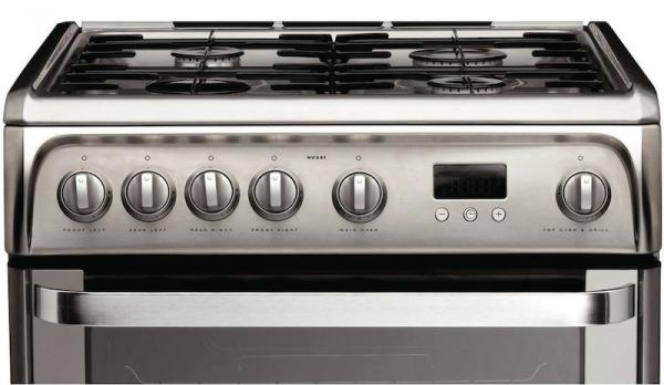 Hotpoint HUG61X 60cm Stainless Steel Gas Cooker