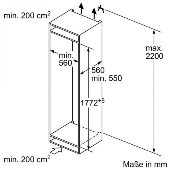 Bosch KIF81PF30 Integrated Tall Larder Fridge
