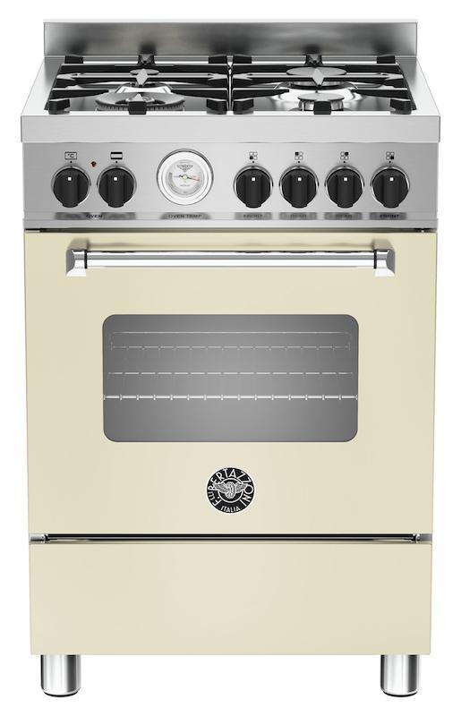 Bertazzoni MAS60-4-MFE-S-CRE Master 60cm Cream Dual Fuel Cooker