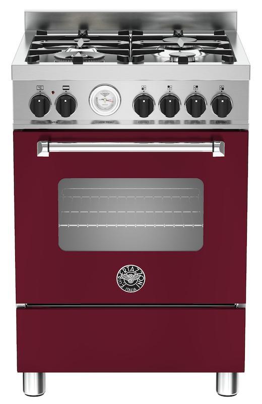 Bertazzoni MAS60-4-MFE-S-VIE Master 60cm Burgundy Dual Fuel Cooker