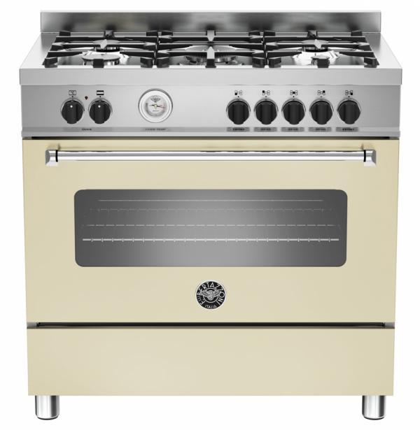Bertazzoni MAS90-5-MFE-S-CRE 90cm Master Dual Fuel Range Cooker