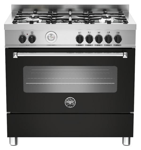 Bertazzoni MAS90-5-MFE-S-NEE 90cm Master Dual Fuel Range Cooker