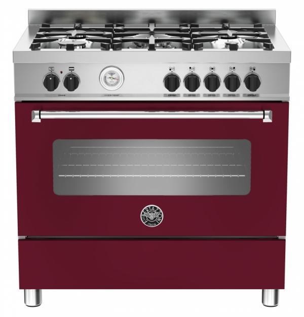 Bertazzoni MAS90-5-MFE-S-VIE 90cm Master Dual Fuel Range Cooker