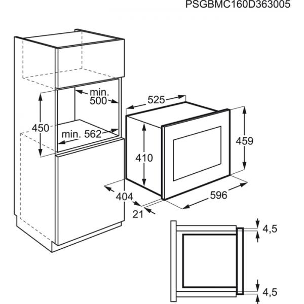 AEG MBE2658S-B Built-In Microwave