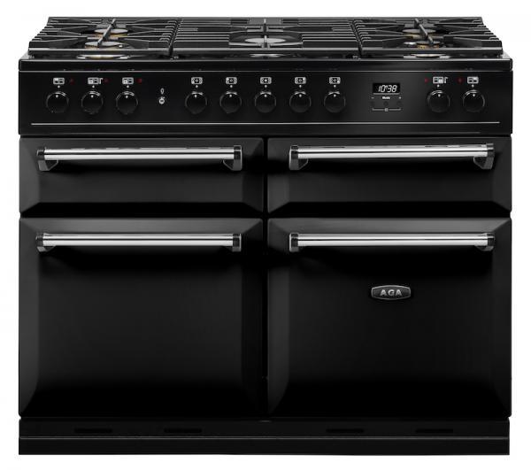 AGA MDX110DFBLK Masterchef Deluxe 110cm Dual Fuel Range Cooker