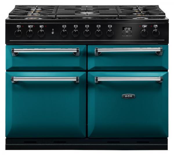 AGA MDX110DFSAL Masterchef Deluxe 110cm Salcombe Blue Dual Fuel Range Cooker