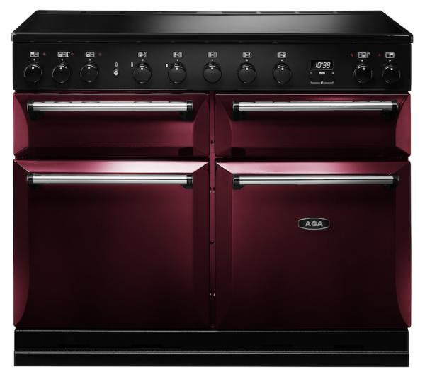 AGA MDX110EICBY Masterchef Deluxe 110cm Cranberry Induction Range Cooker