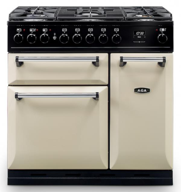 AGA MDX90DFCRM Masterchef Deluxe 90cm Cream Dual Fuel Range Cooker