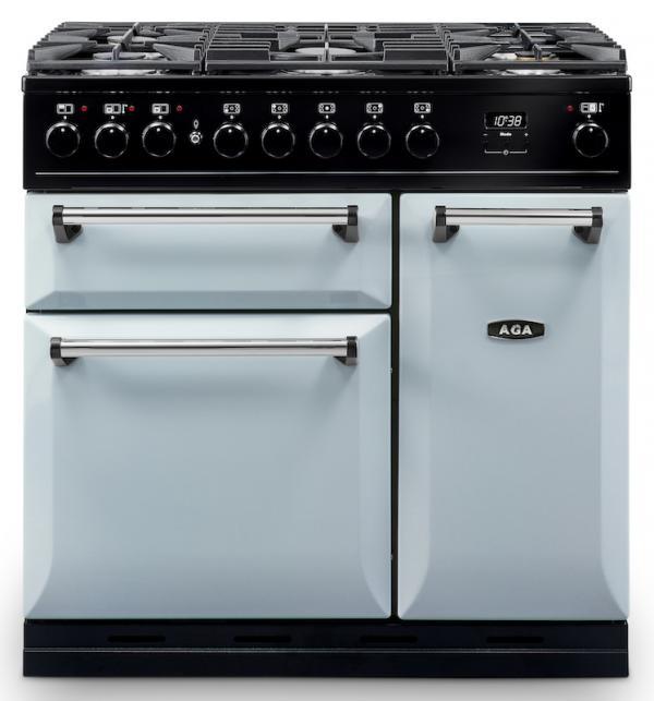 AGA MDX90DFPAS Masterchef Deluxe 90cm Pearl Ashes Dual Fuel Range Cooker