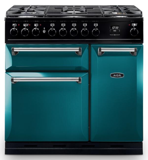 AGA MDX90DFSAL Masterchef Deluxe 90cm Salcombe Blue Dual Fuel Range Cooker