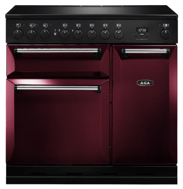 AGA MDX90EICBY Masterchef Deluxe 90cm Cranberry Induction Range Cooker