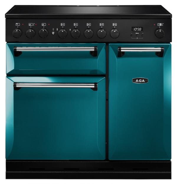 AGA MDX90EISAL Masterchef Deluxe 90cm Salcombe Blue Induction Range Cooker
