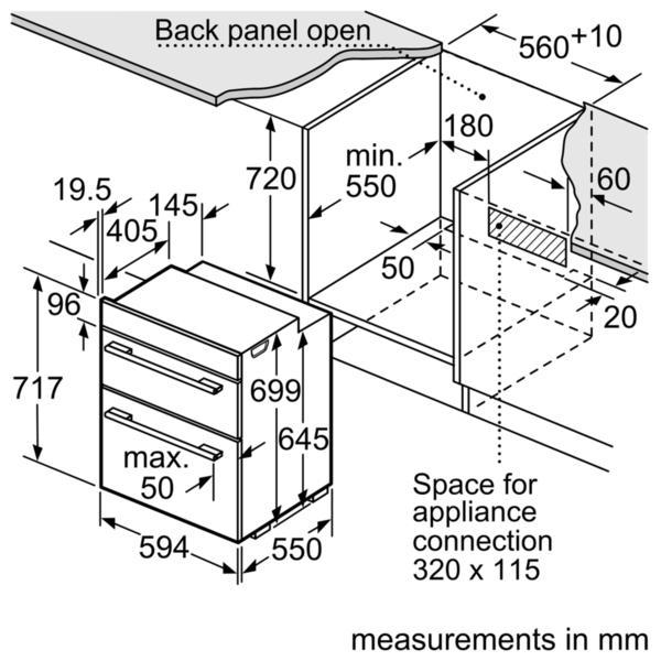 Bosch NBA5350S0B Built-Under Double Oven