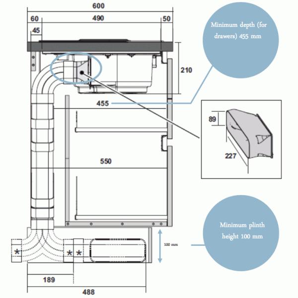Elica NT-PRIME-RC NikolaTesla Prime Induction Hob with Recirculating Extraction
