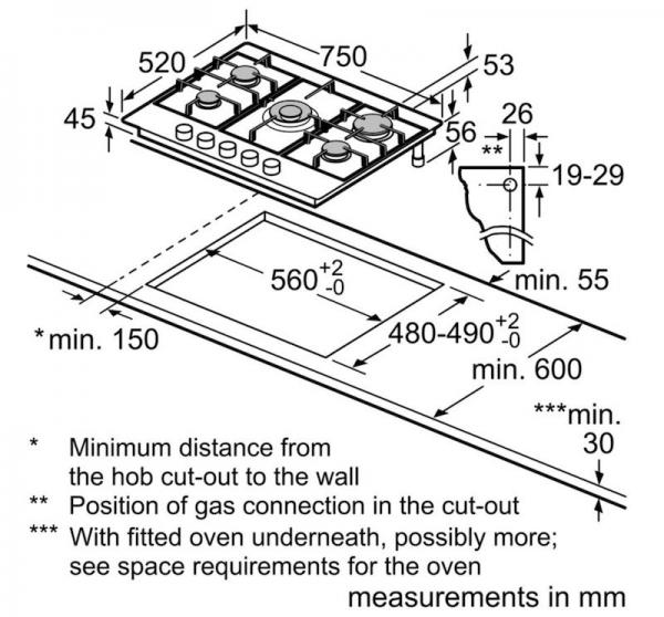 Bosch PGQ7B5B90 75cm Gas Hob