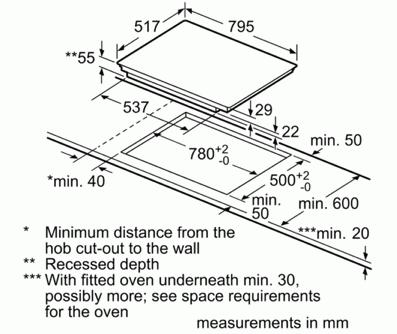 Bosch PIE845BB1E 80cm Induction Hob