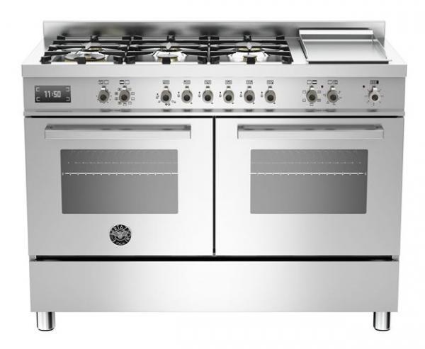 Bertazzoni PRO1206GMFEDXT 120cm Dual Fuel Range Cooker