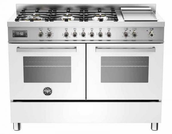 Bertazzoni PRO120-6G-MFE-D-BIT 120cm Professional Dual Fuel Range Cooker