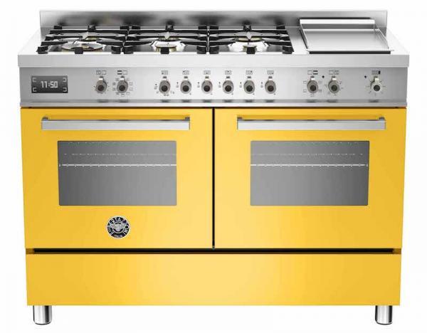Bertazzoni PRO120-6G-MFE-D-GIT 120cm Professional Dual Fuel Range Cooker