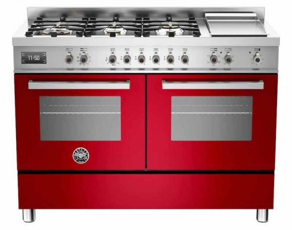 Bertazzoni PRO120-6G-MFE-D-ROT 120cm Professional Dual Fuel Range Cooker