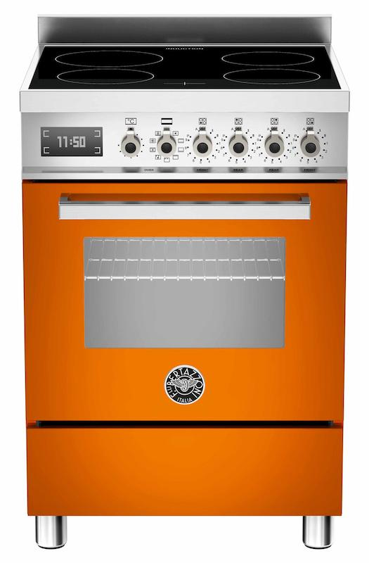 Bertazzoni PRO60-4I-MFE-S-AR-T Professional 60cm Orange Induction Cooker