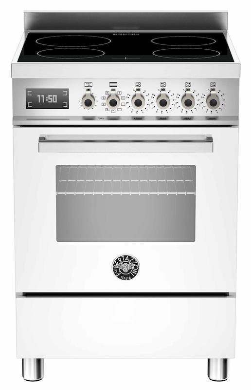 Bertazzoni PRO60-4I-MFE-S-BI-T Professional 60cm White Induction Cooker