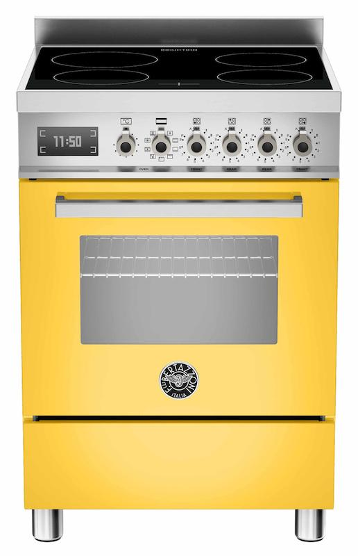 Bertazzoni PRO60-4I-MFE-S-GI-T Professional 60cm Yellow Induction Cooker