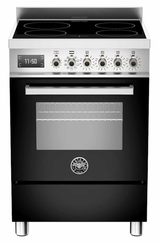 Bertazzoni PRO60-4I-MFE-S-NE-T Professional 60cm Black Induction Cooker