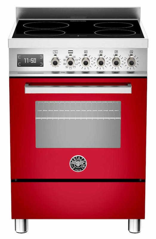 Bertazzoni PRO60-4I-MFE-S-RO-T Professional 60cm Red Induction Cooker