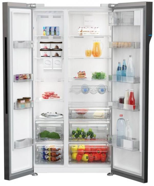 Beko RASFLE72PX American Side by Side Fridge Freezer