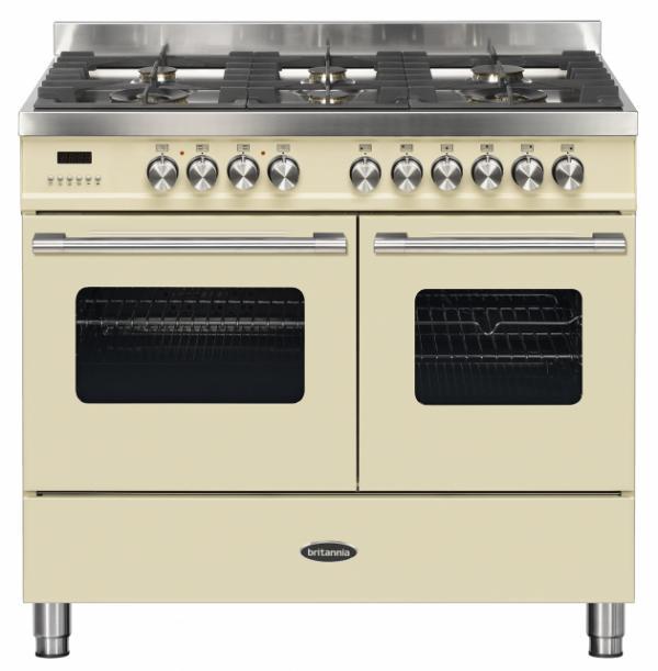 Britannia RC-10TG-DE-CR 544440175 100cm Twin Cream Dual Fuel Range Cooker