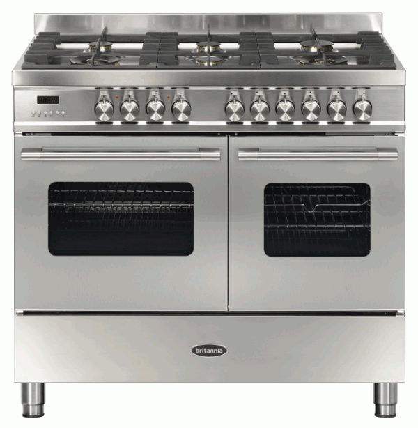 Britannia RC-10TG-DE-S 544440112 100cm Twin Stainless Steel Dual Fuel Range Cooker