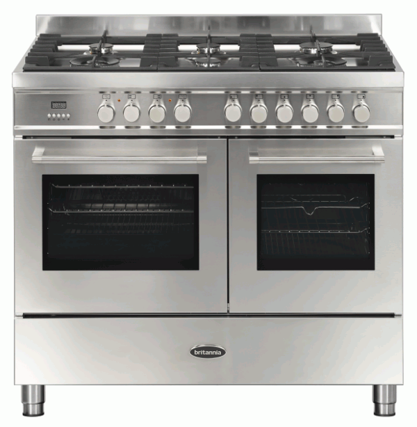 Britannia RC-10TG-QL-S 544440040 Q Line 100cm Twin Stainless Steel Dual Fuel Range Cooker