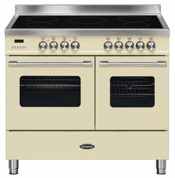 Britannia RC-10TI-DE-CR 544440776 100cm Twin Cream Induction Range Cooker