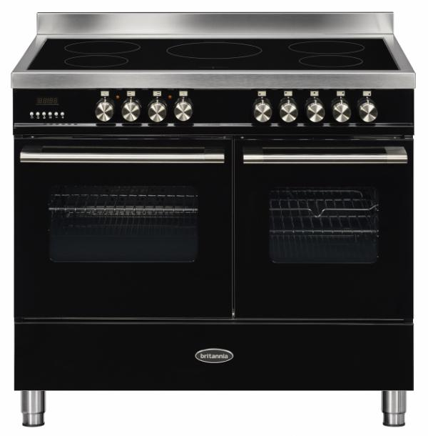 Britannia RC-10TI-DE-K 544440250 100cm Twin Black Induction Range Cooker