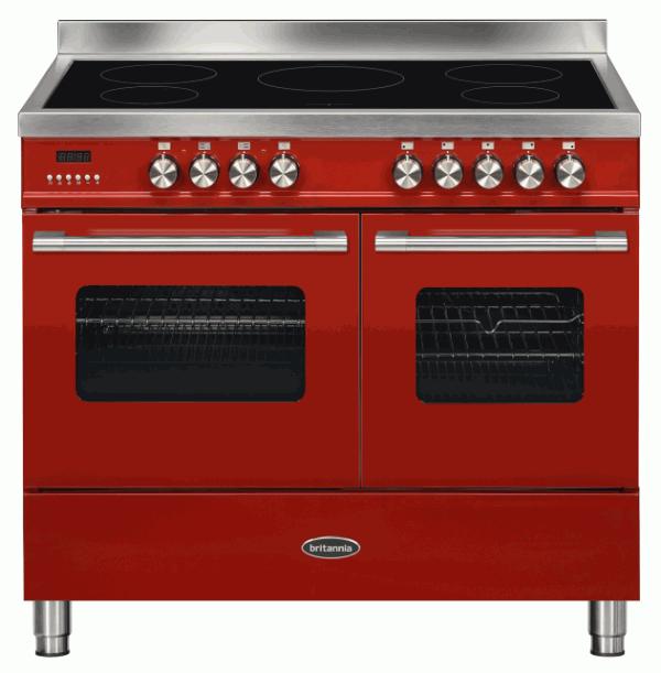 Britannia RC-10TI-DE-RED 544440236 100cm Twin Red Induction Range Cooker