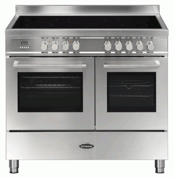 Britannia RC-10TI-QL-S 544440169 Q Line 100cm Twin Stainless Steel Induction Range Cooker