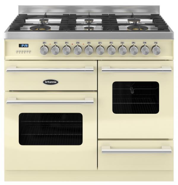 Britannia RC-10XGG-DE-CR 544440325 Delphi XG 100cm Cream Dual Fuel Range Cooker