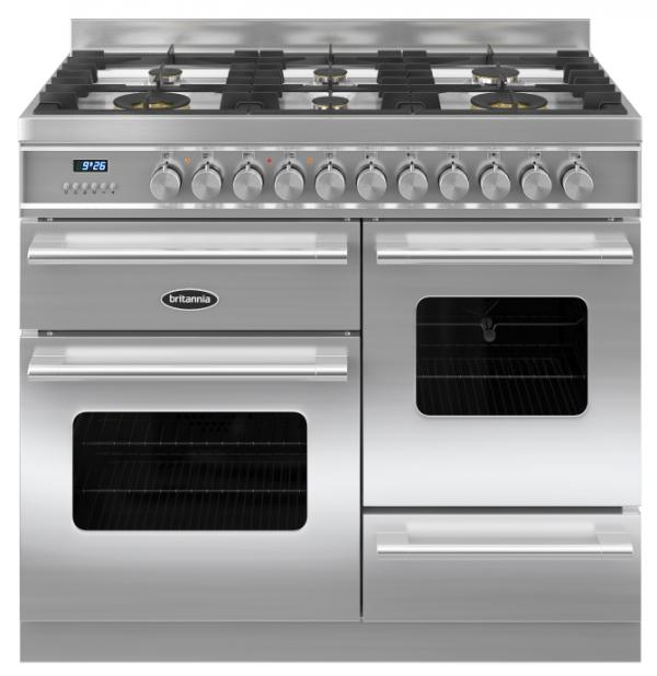 Britannia RC-10XGG-DE-S 544440125 Delphi XG 100cm Stainless Steel Dual Fuel Range Cooker