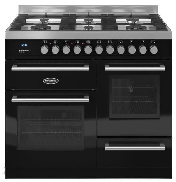 Britannia RC-10XGG-QL-K 544440182 Q Line 100cm XG Black Dual Fuel Range Cooker
