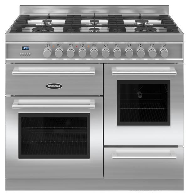 Britannia RC-10XGG-QL-S 544440158 Q Line 100cm XG Stainless Steel Dual Fuel Range Cooker