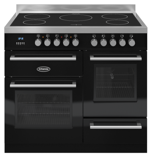 Britannia RC-10XGI-QL-K 544440079 Q Line 100cm XG Black Induction Range Cooker