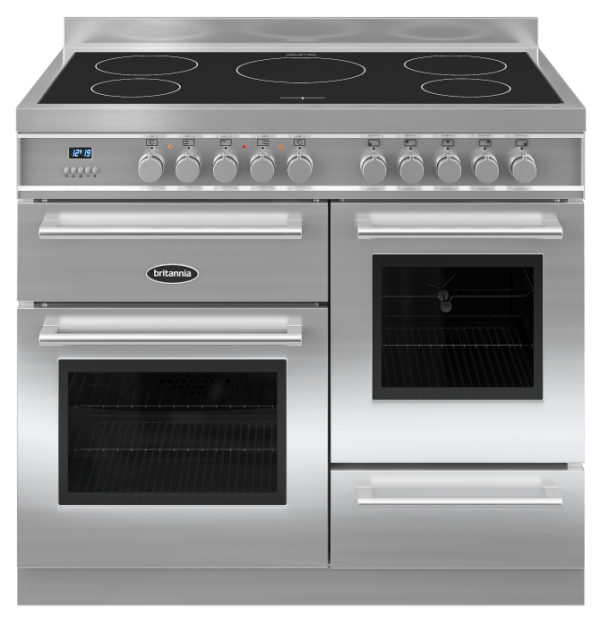Britannia RC-10XGI-QL-S 544440196 Q Line 100cm XG Stainless Steel Induction Range Cooker