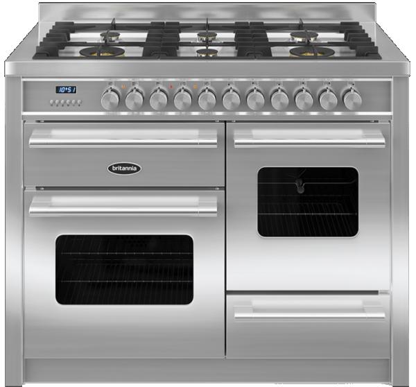 Britannia RC-11XGG-DE-S 544440013 Delphi 110cm XG Stainless Steel Dual Fuel Range Cooker