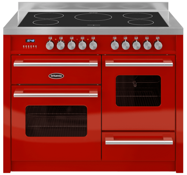 Britannia RC-11XGI-DE-RED 544440370 Delphi 110cm XG Red Induction Range Cooker