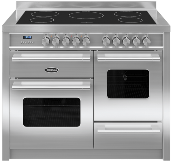 Britannia RC-11XGI-DE-S 544440248 Delphi 110cm XG Stainless Steel Induction Range Cooker